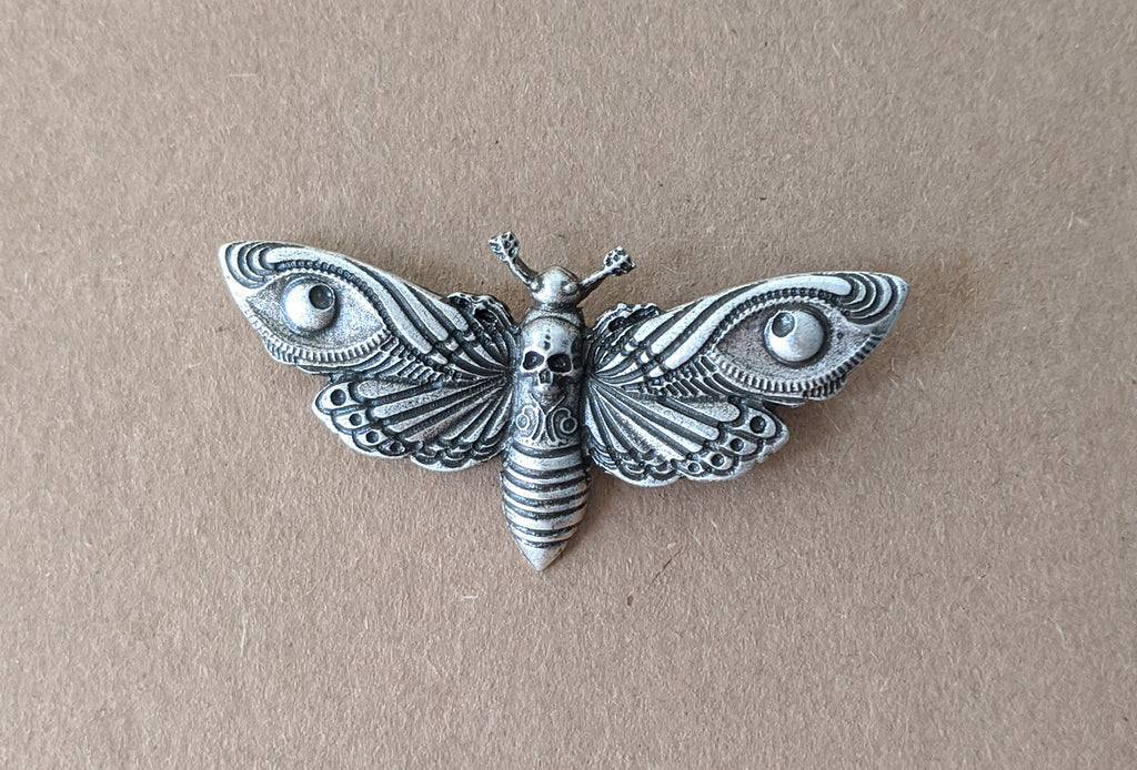 """Riella"" Death Head Moth Brooch"
