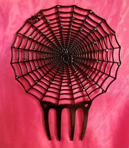 """Isobel"" Spider Web Hair Comb"