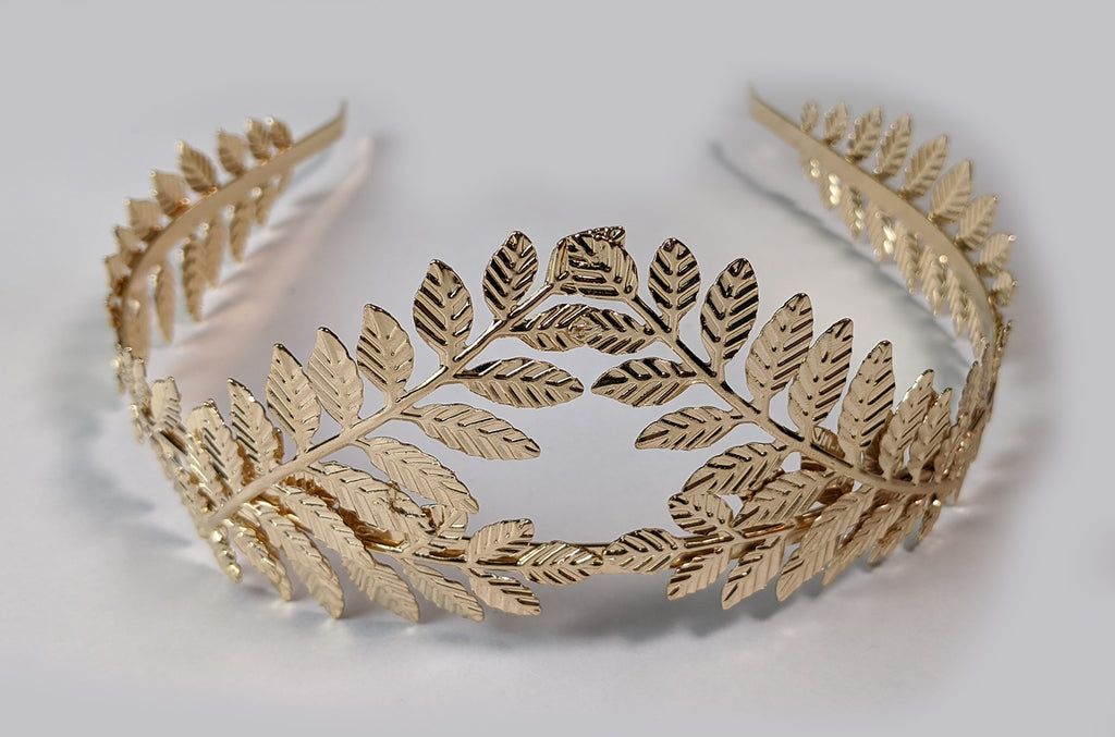 """Natalie"" <BR>Golden Leaf Crown"