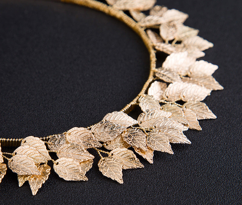 """Zephyr"" <BR>Golden Leaf Head Band Crown"