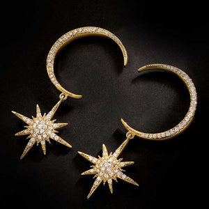 """Cymbeline"" <br>Moon and star earrings"