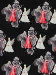 """Devil or Angel?"" Fabric in Rayon Crepe"