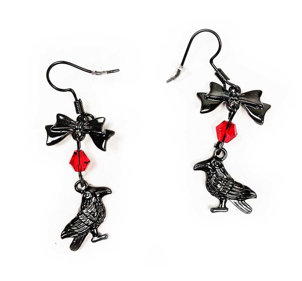 """Aidan"" Raven Earrings"