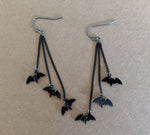 """Anastasia"" Victorian Style Bat Earrings"
