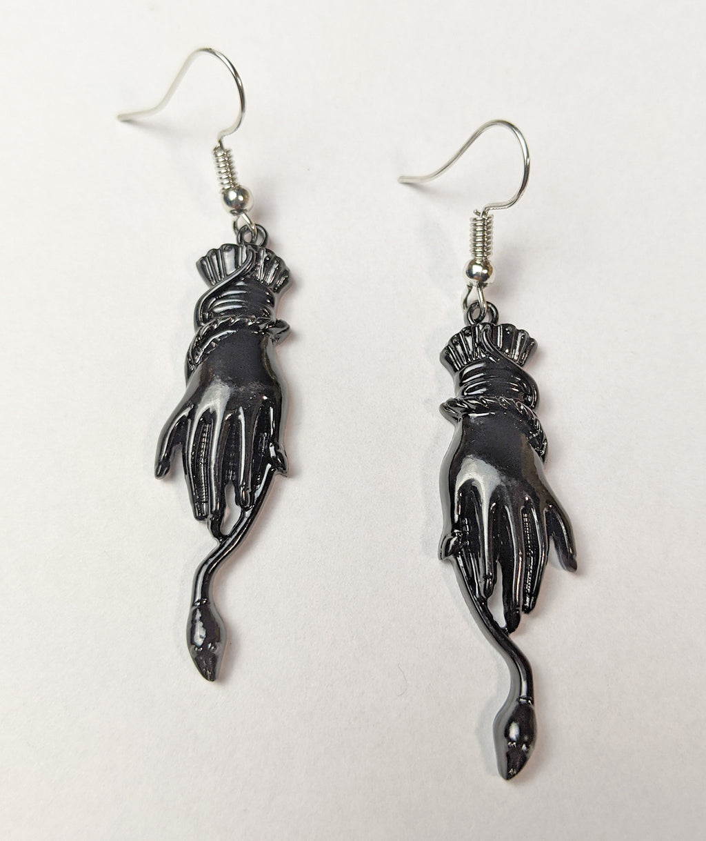 """Cordelia"" <BR>Victorian Style Snake and Hand Earrings"