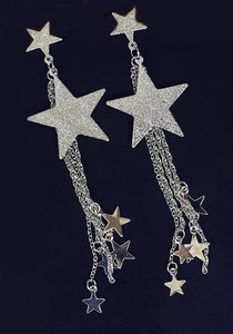 """Isla"" Falling stars Tassel Earrings"