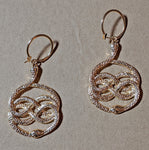 """Lissa"" Gold Tone Snake Earrings"