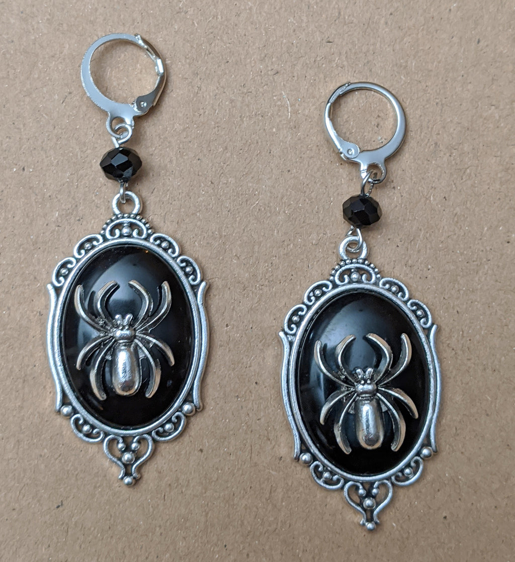 """Marie"" Victorian Style Spider Earrings"