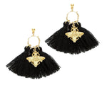 """Minta"" Bee Tassel Earrings"