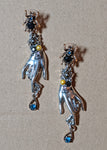 """Oriel"" Victorian Style Hand Earrings"