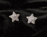 """Bebe"" Rhinestone Star Stud Earrings"