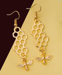 """Emerie"" <BR>Gold Bumble Bee Earrings"