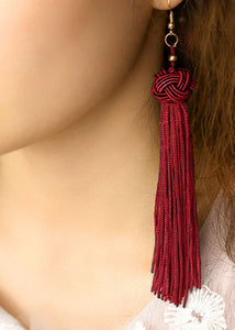 """Giana"" <BR>Silky Tassel Earrings"