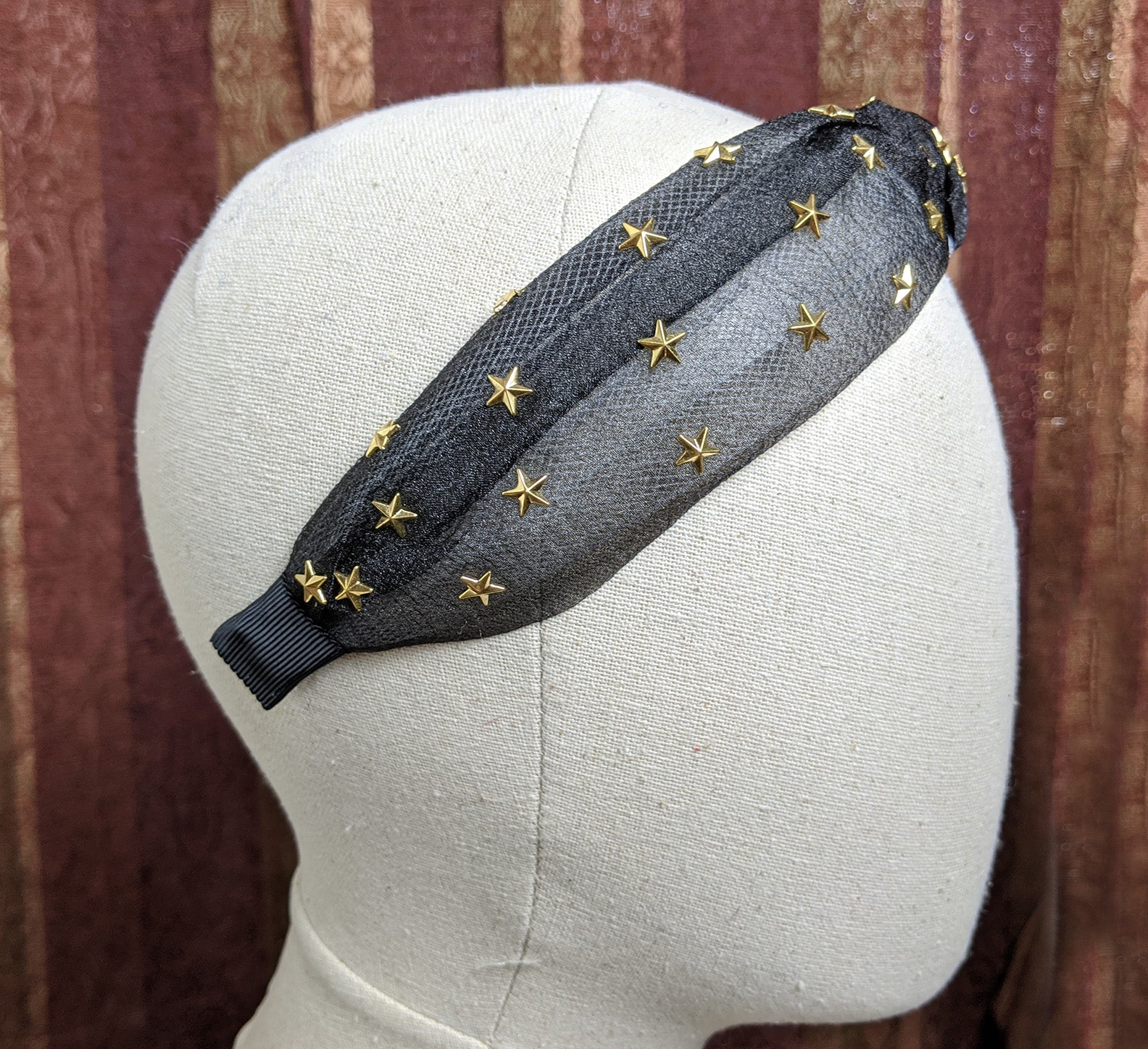 """Allaire"" Tulle and Stars Top Knot Headband"