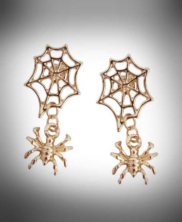 """Hermia"" <br>Spider Earrings"