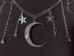 """Isadora"" Star and Moon Necklace"