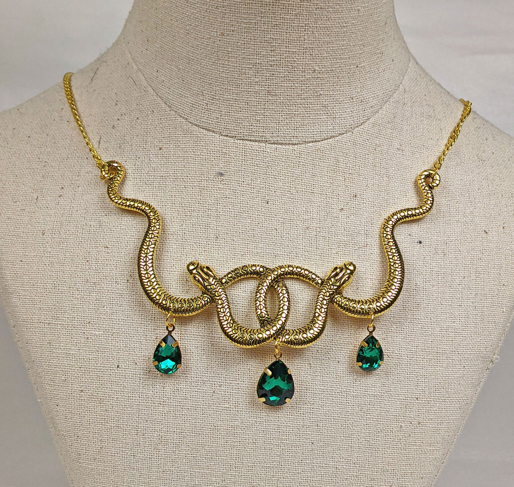 """Amaya"" Gold-tone Snake Necklace"