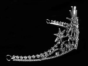 """Calista"" Moon and Stars Tiara"