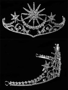 """Calista"" <br>Moon and Stars Tiara"
