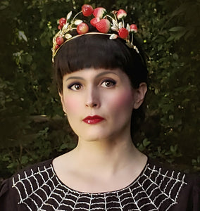 """Amelie"" <br>Art Nouveau Style Berry Crown"