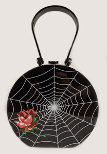 """Nora"" Spiderweb and Rose Purse"