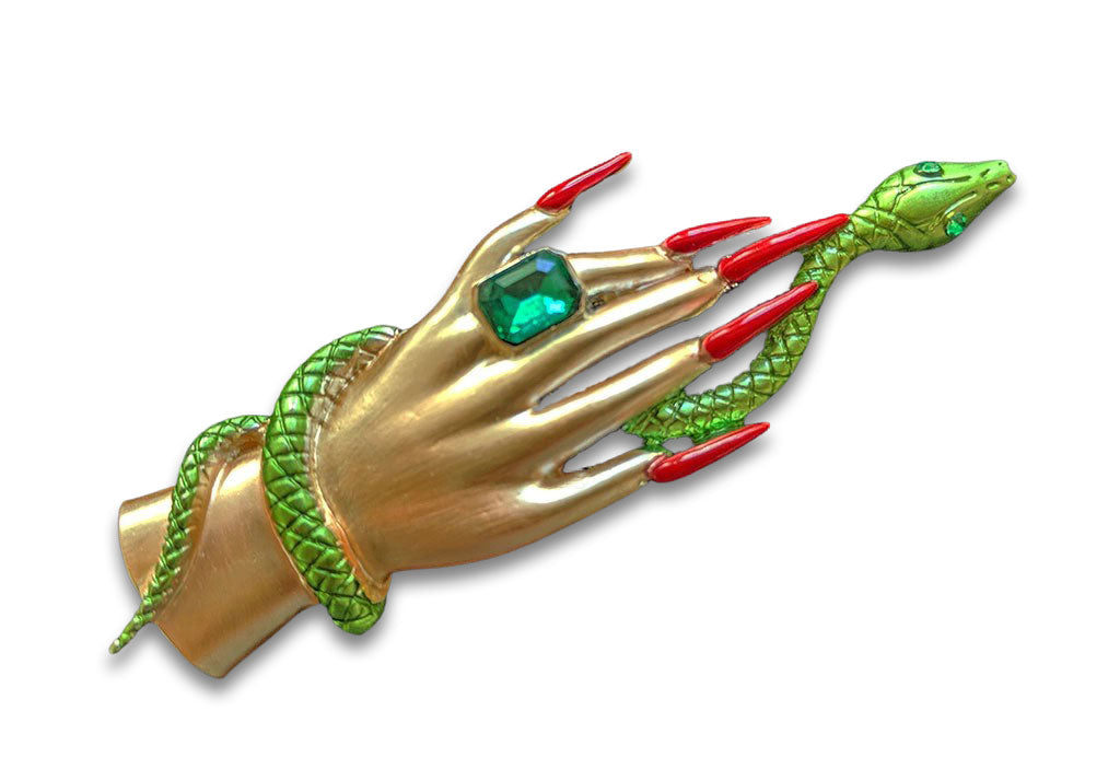 """Norma"" Hand and Serpent Brooch"