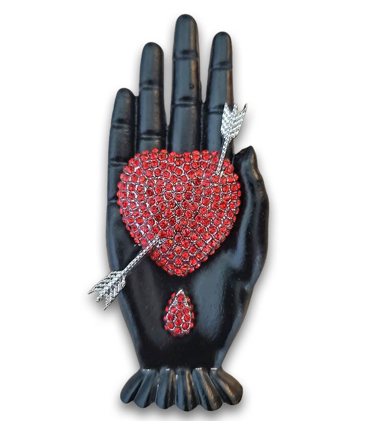 """Salome"" Heart in Hand Brooch"