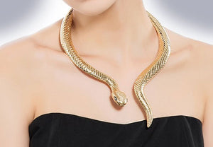 """Decima"" Serpent Statement Necklace"
