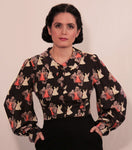 """Ava"" Bishop Sleeve Blouse In ""Devil or Angel?"""