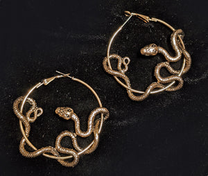 """Damaris""  <BR>Snake Hoop Earrings"