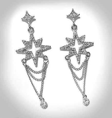 """Kendell"" 1950s Style Star Earrings"