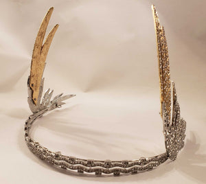 """Freya"" <br>Art Deco Style Winged Bandeau Crown"