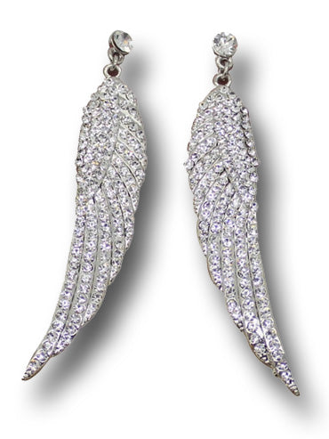 """Freya"" Pave Wing Earrings"