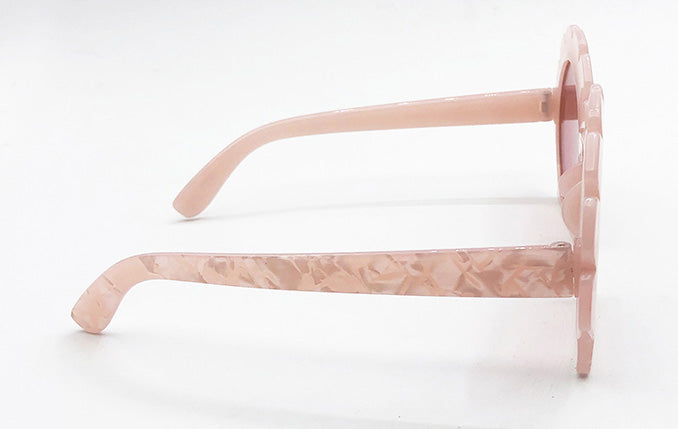"""Kailee"" <br>1940's Style Pink Seashell Sunglasses"