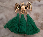 """Cosette"" Bat Tassel Earrings"