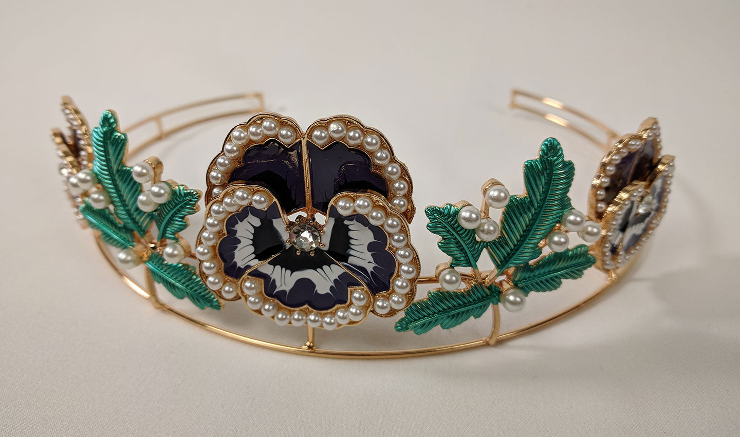 """Violetta"" <br>Art Nouveau Style Flower Crown"