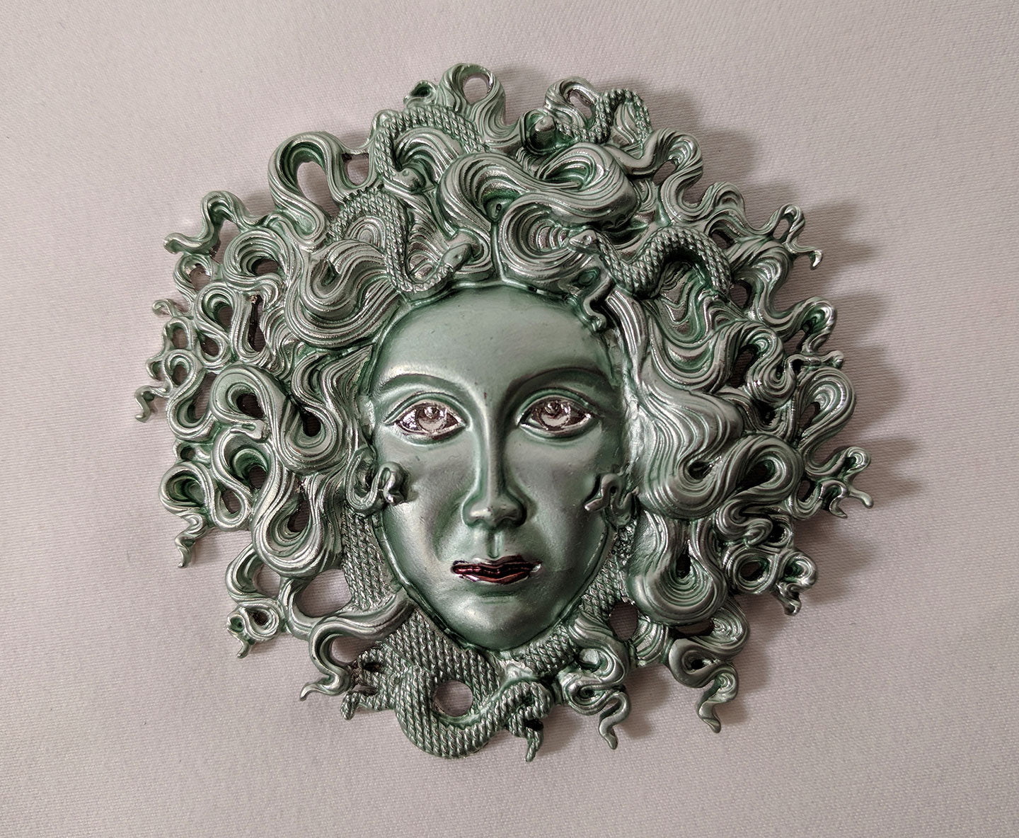 """Nemi"" <br>Medusa Statement Brooch"