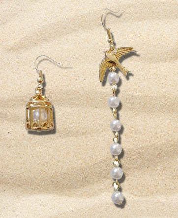 """Noelle"" <br>Bird Cage Earrings"
