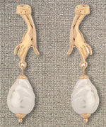 """Samantha"" Hand and Pearl Earrings"