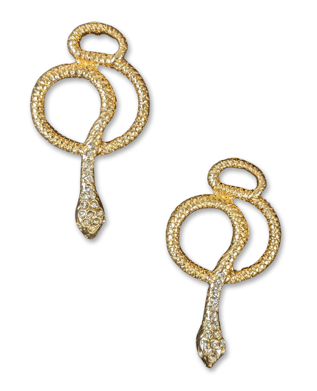 """Etta"" Gold-tone Snake Earrings"