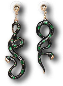 """Portia"" Enamel Snake Earrings"