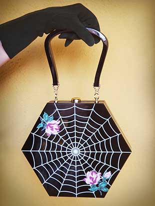 """Vivienne"" Hexagon Spider Web Bag"