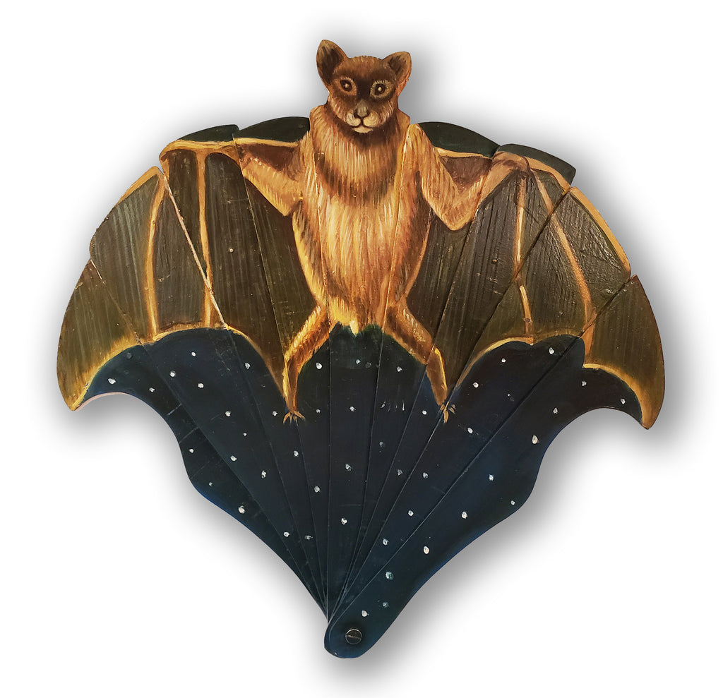"""Titania"" <br>Victorian Style<br> Hand Painted Bat Fan <br>(pre-order)"