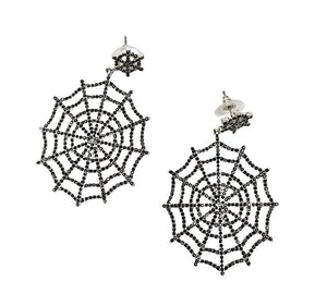 """Alexis"" Spiderweb Earrings"