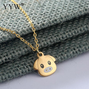 Cute Pig Necklace