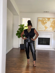 Waist Snatcher vegan leather Pants
