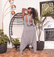 Harem jumpsuit with tube top