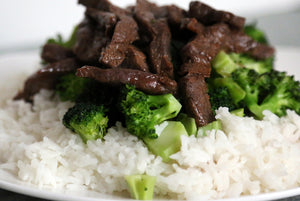 Top Round Steak and White Rice
