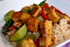 Spicy Tofu and Brown Rice