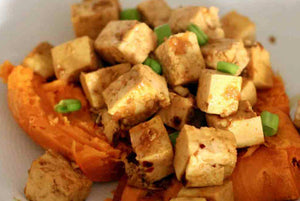Spicy Tofu and Sweet Potatoes